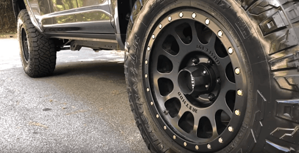 closeup for 4runner wheels and tires