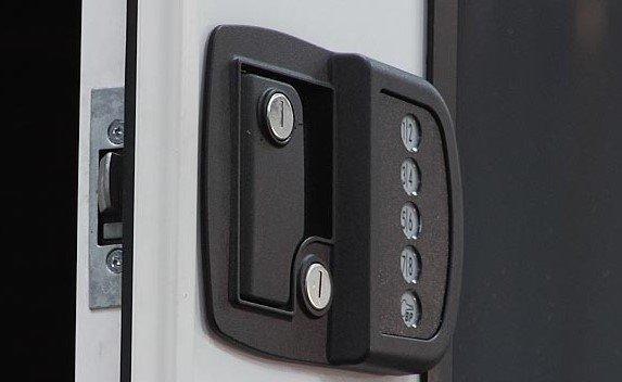 Keyed Door Lock in rv