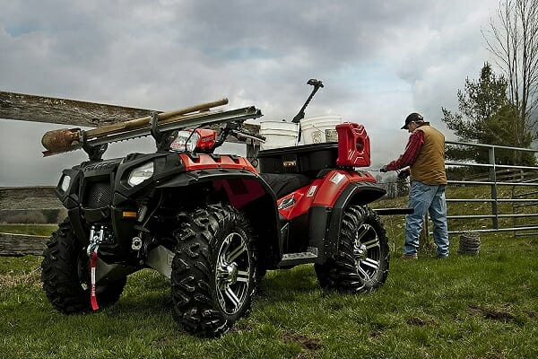 gunracks on atvs can carry fence equipment