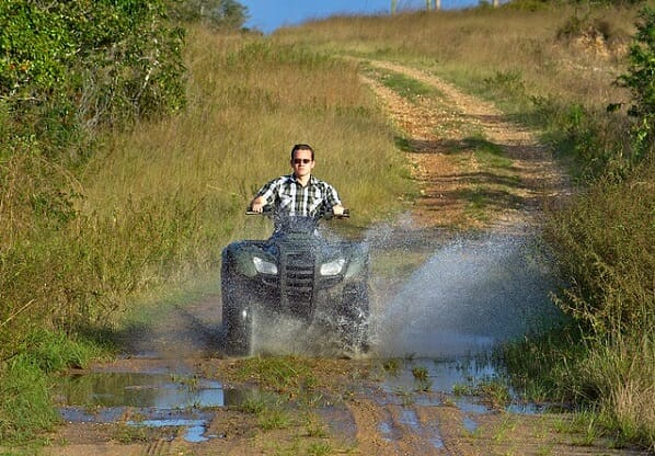 Boom sprayers are convenient on ATVs