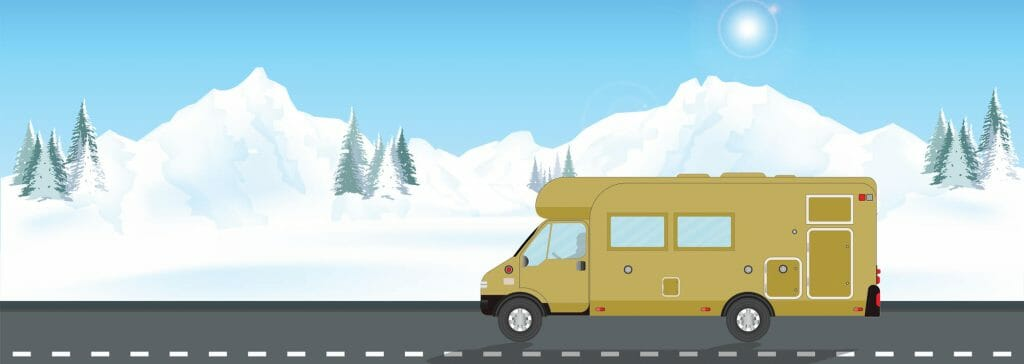Driving an RV In The Snowy Mountains
