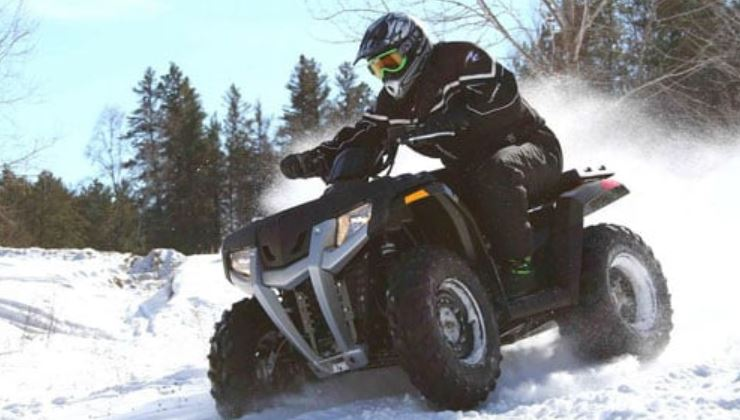 Driving your ATV in the cold