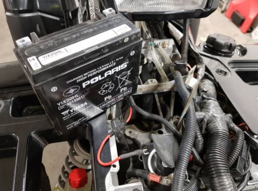 The battery is old or bad on ATV