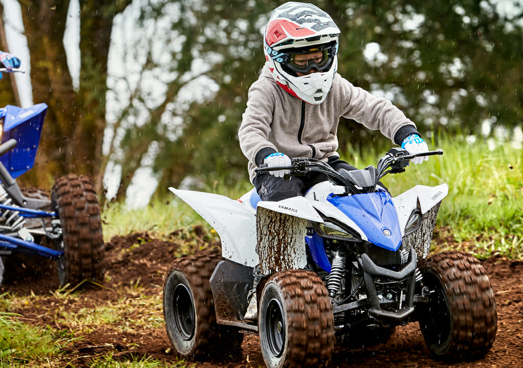 Youth ATVs are great in the mud