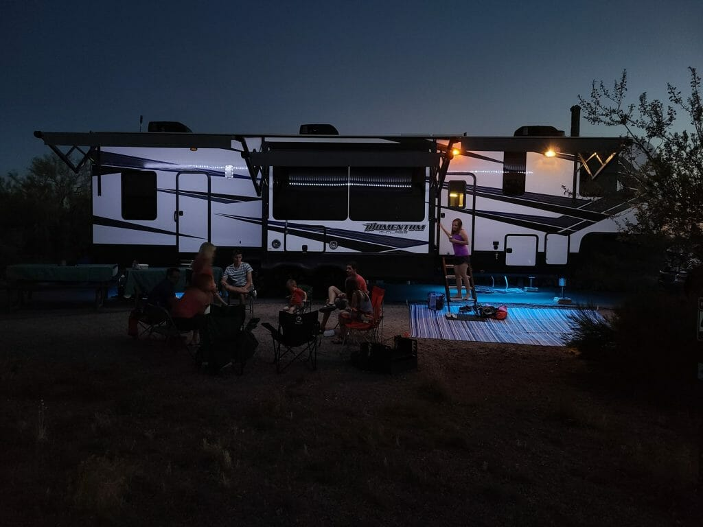 Light up your Rv's awning
