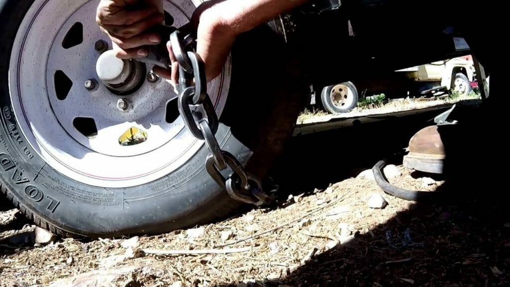 trailer wheel lock