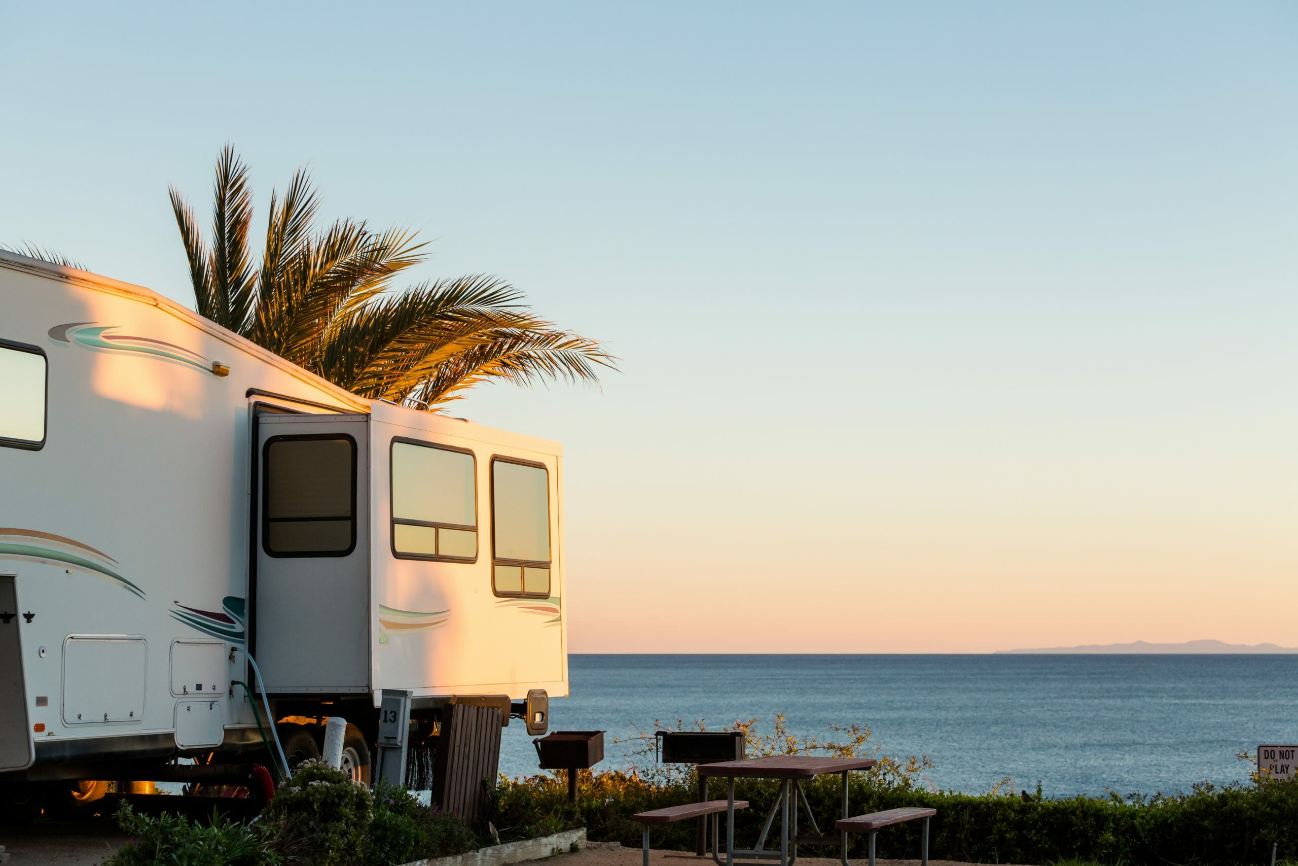 RV Parks in the warm sun