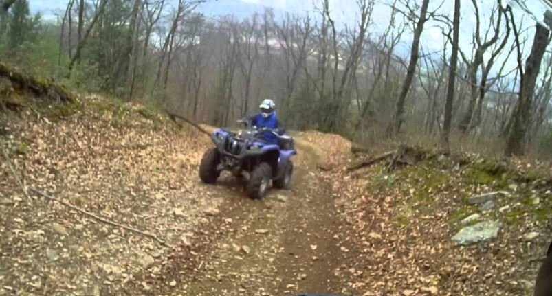What type of path is best for driving an ATV up a hill
