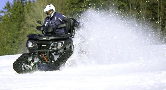 Can you ride an ATV in the snow