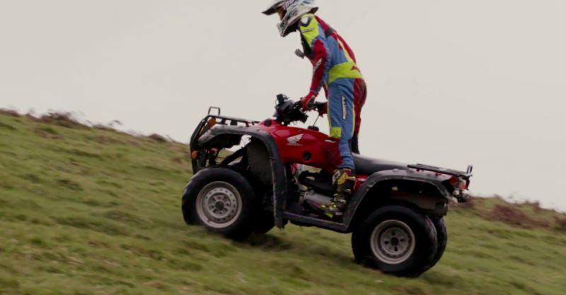 How do you ride a quad like a pro