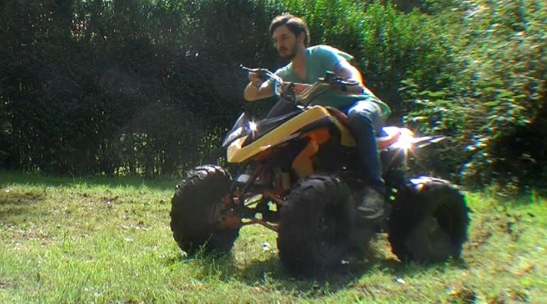 How do you ride an automatic ATV