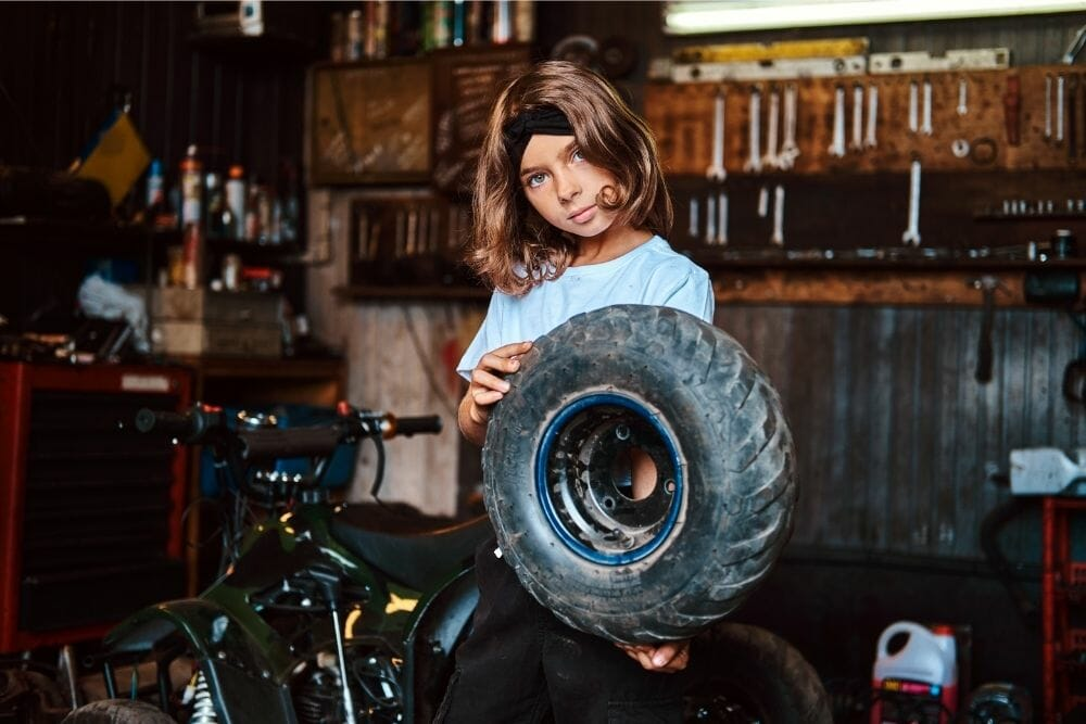 Is it hard to change ATV tires