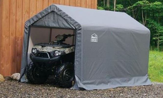 What should you do with your ATV battery before storing your ATV